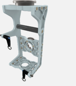 Hillaero AP-04 FAA certified mountable bracket for Air Ambulance Airmed Helicopter or Fixed Wing Aircraft ISO1